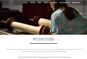 The new Mitzvah Studio website uses interactive parallax scrolling to engage visitors and show off its' services.