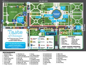 Taste Of Chicago 2016 Map